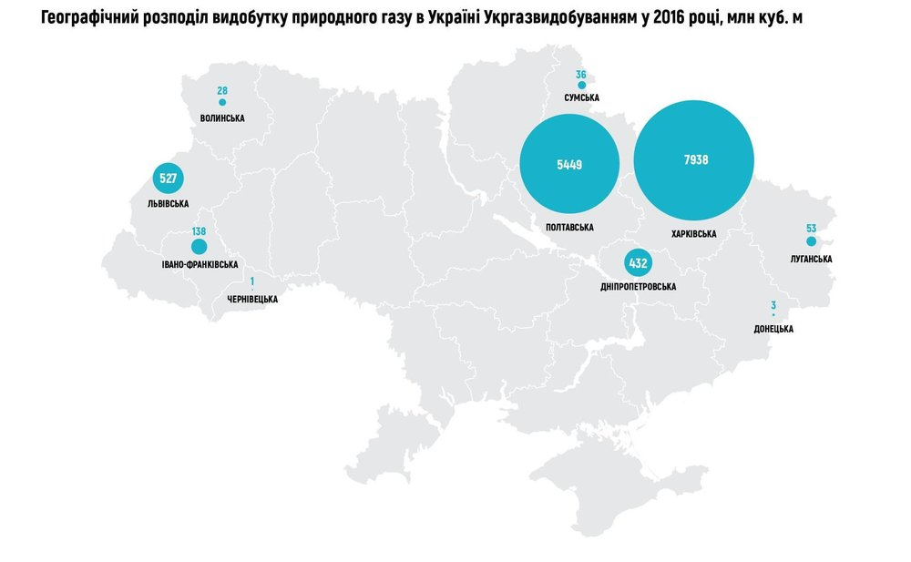 Географічний розподіл видобутку природного газу